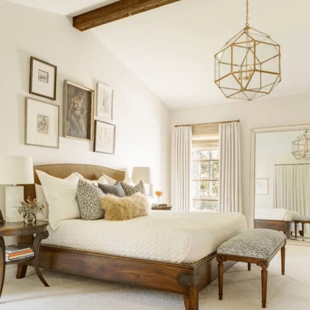 Beautiful Modern Farmhouse Master Bedroom Decoration Ideas 35