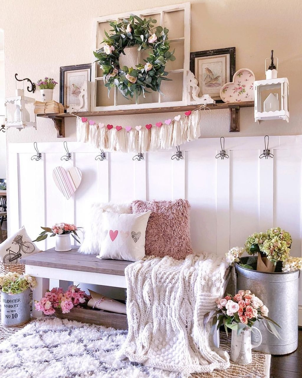 Cute Farmhouse Style Valentine Decorations 07