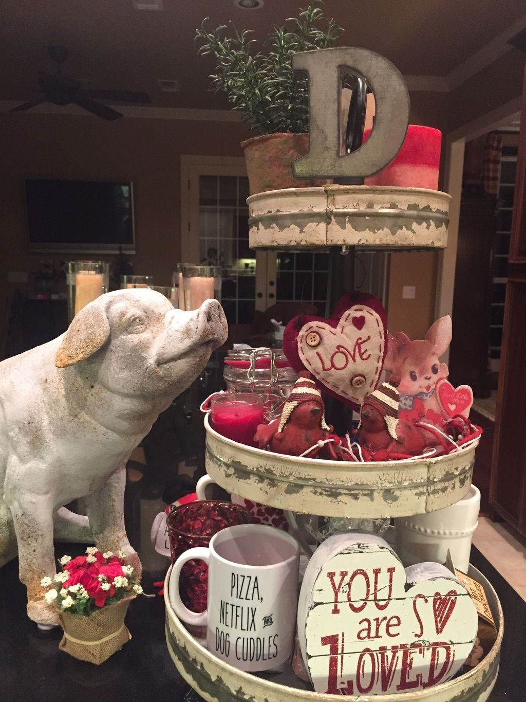 Cute Farmhouse Style Valentine Decorations 21