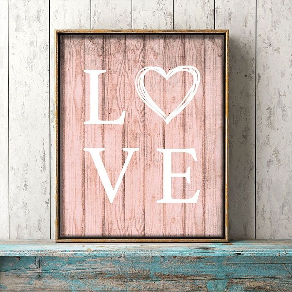 Cute Valentine Wall Art Design Ideas 35