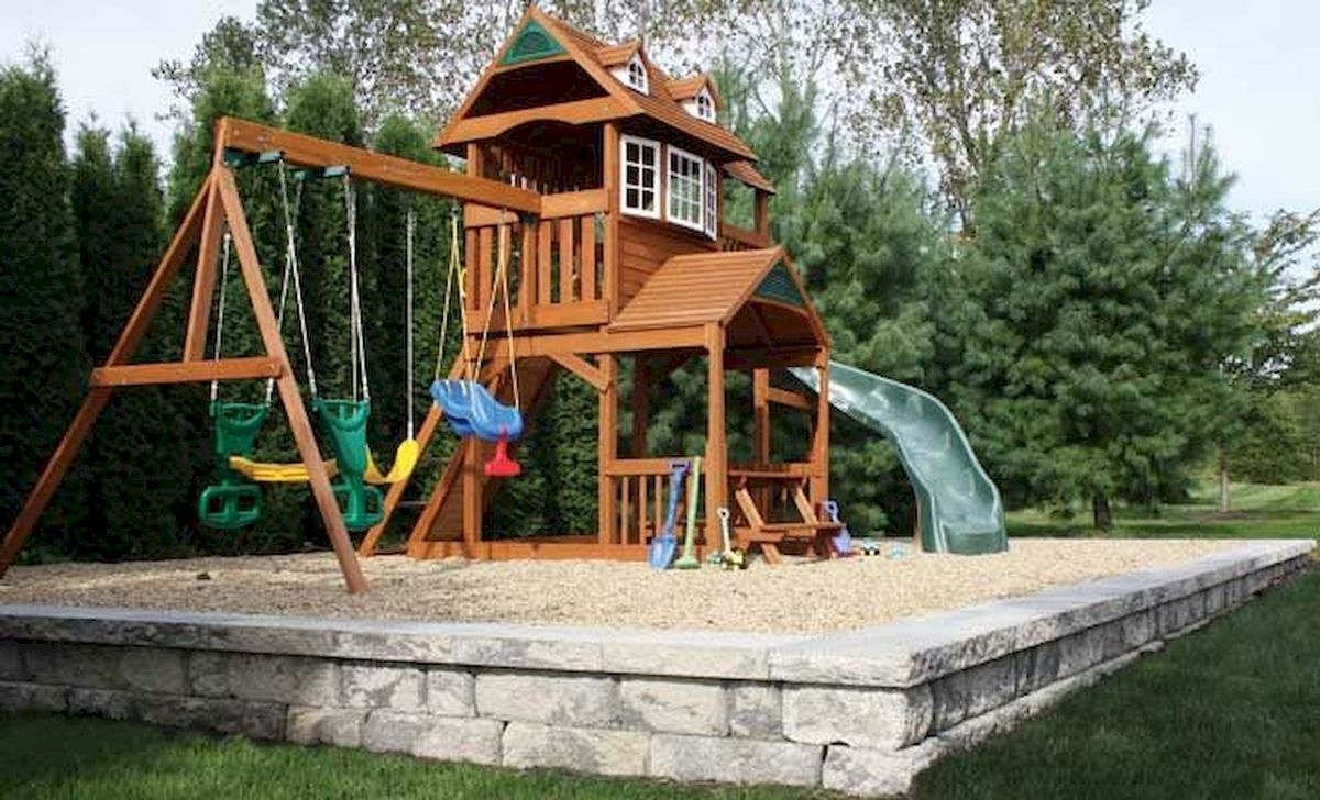 Gorgeous Backyard Playground Kids Design Ideas 21