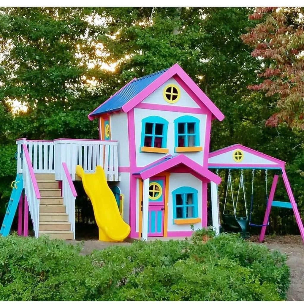 Gorgeous Backyard Playground Kids Design Ideas 25