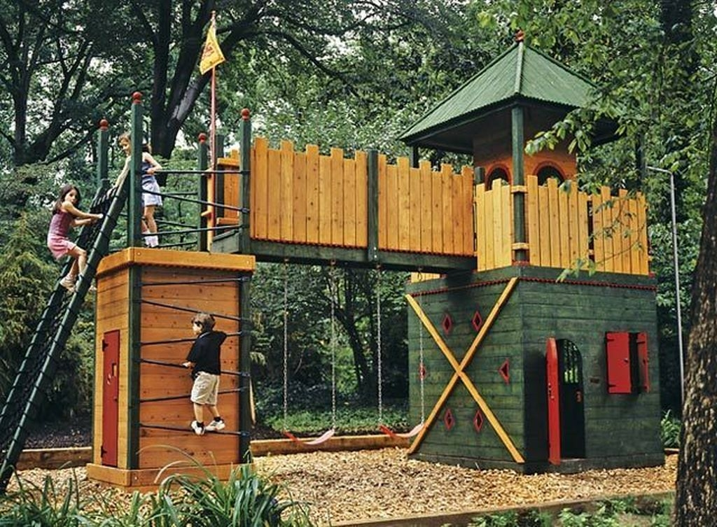 Gorgeous Backyard Playground Kids Design Ideas 28