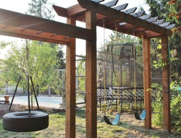 Gorgeous Backyard Playground Kids Design Ideas 29
