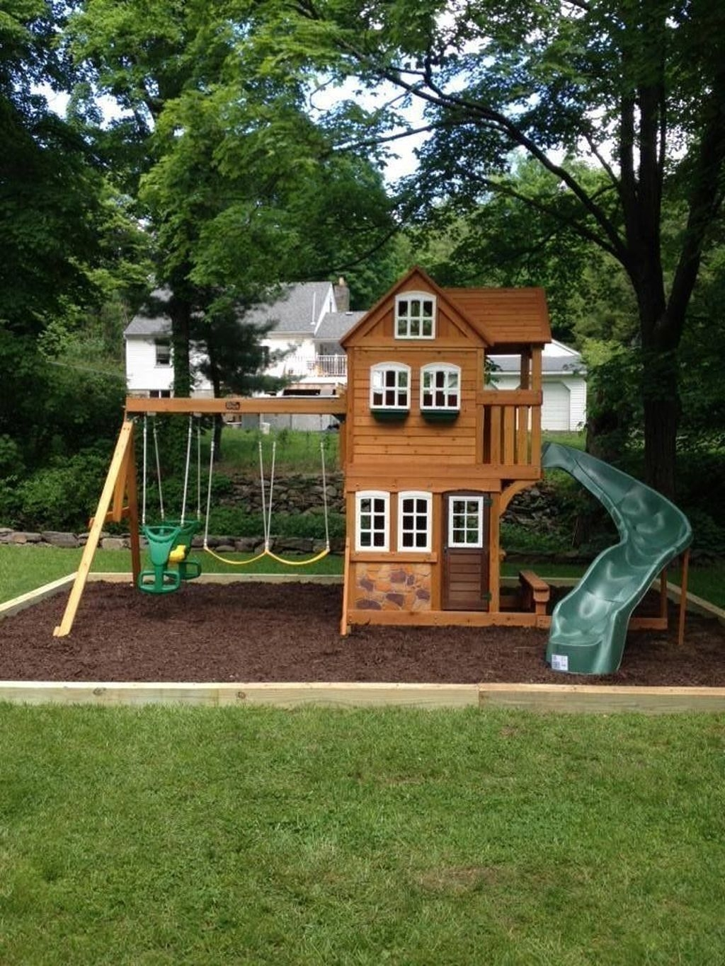 Gorgeous Backyard Playground Kids Design Ideas 38
