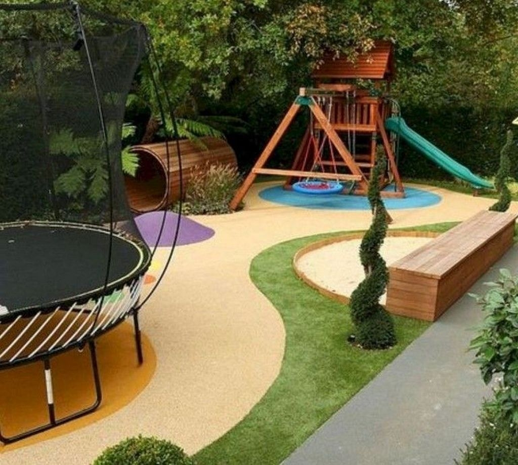 Gorgeous Backyard Playground Kids Design Ideas 42