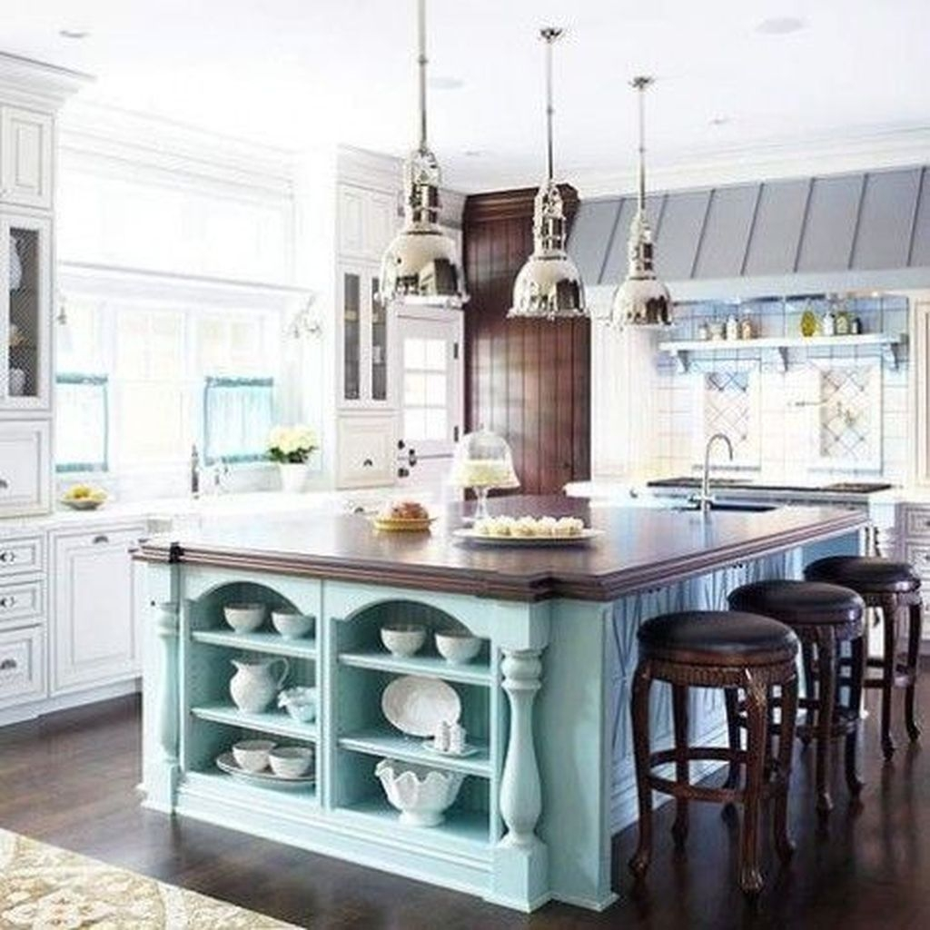 Gorgeous Coastal Kitchen Design Ideas 29
