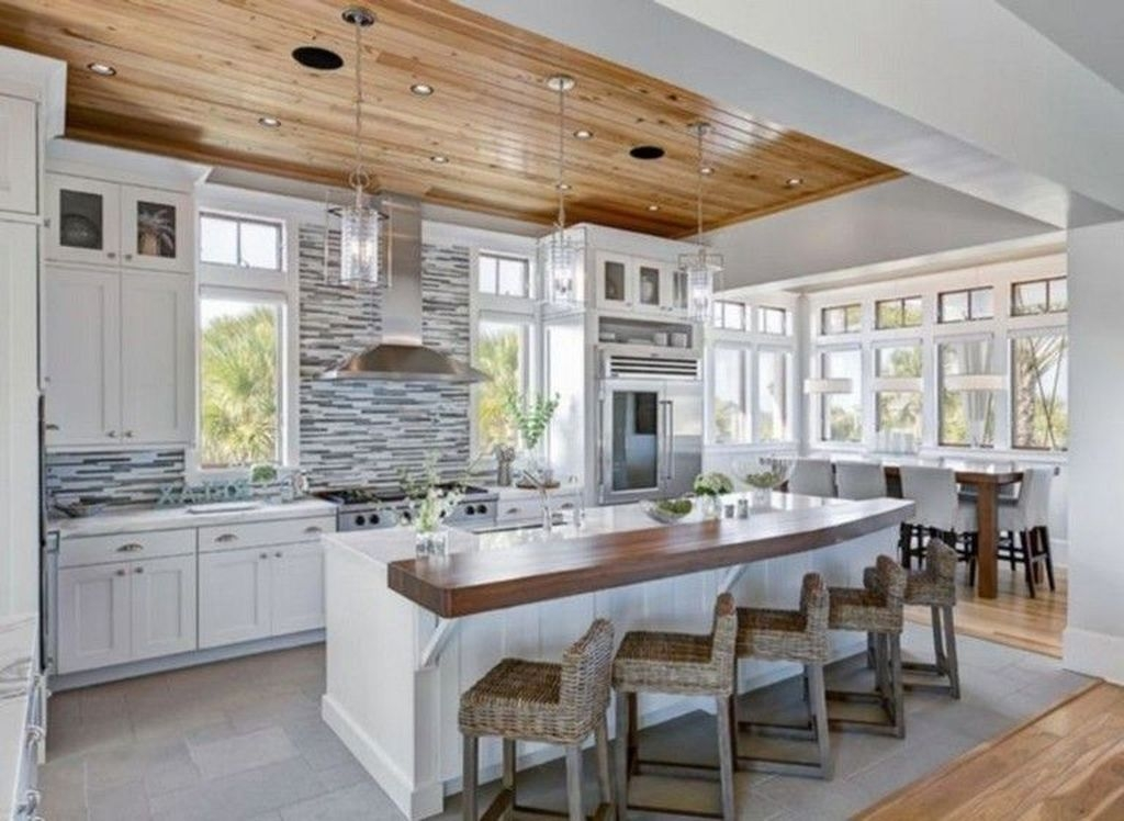 Gorgeous Coastal Kitchen Design Ideas 47