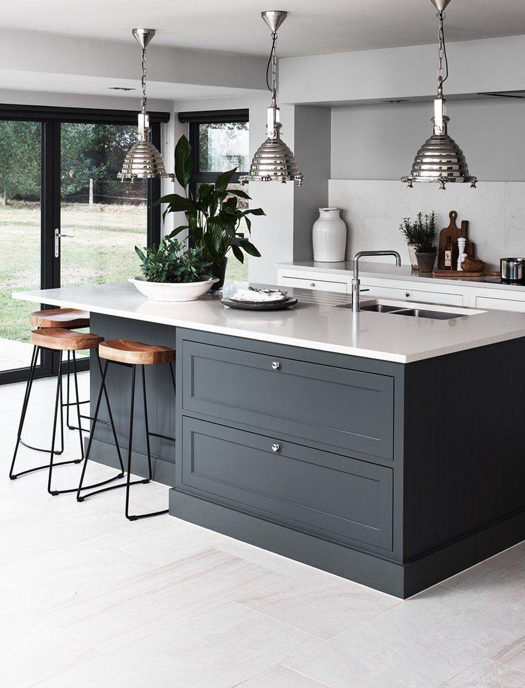 Inspiring Dark Grey Kitchen Design Ideas 14