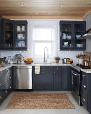 Inspiring Dark Grey Kitchen Design Ideas 15