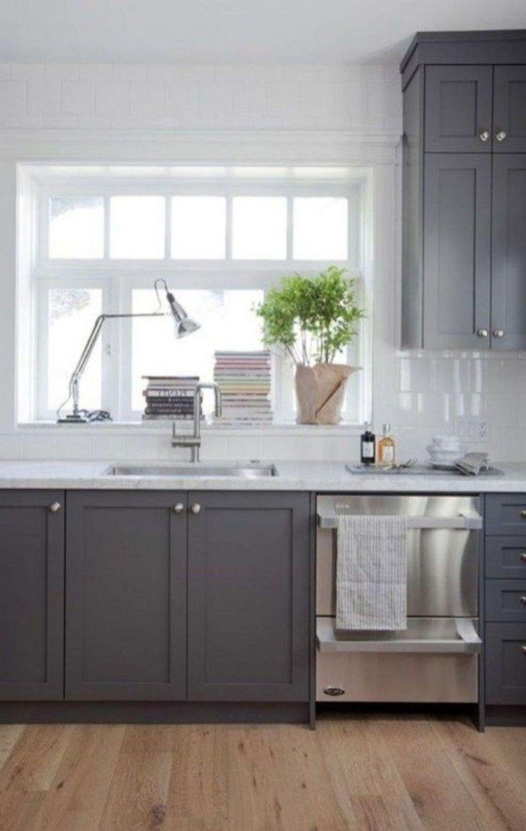 Inspiring Dark Grey Kitchen Design Ideas 29