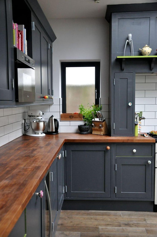 Inspiring Dark Grey Kitchen Design Ideas 32