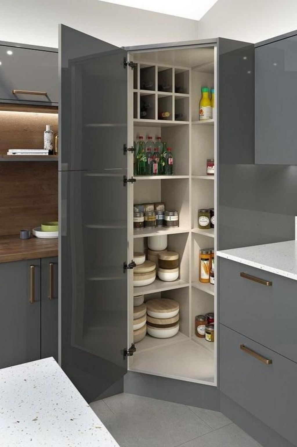 Inspiring Kitchen Storage Design Ideas 43