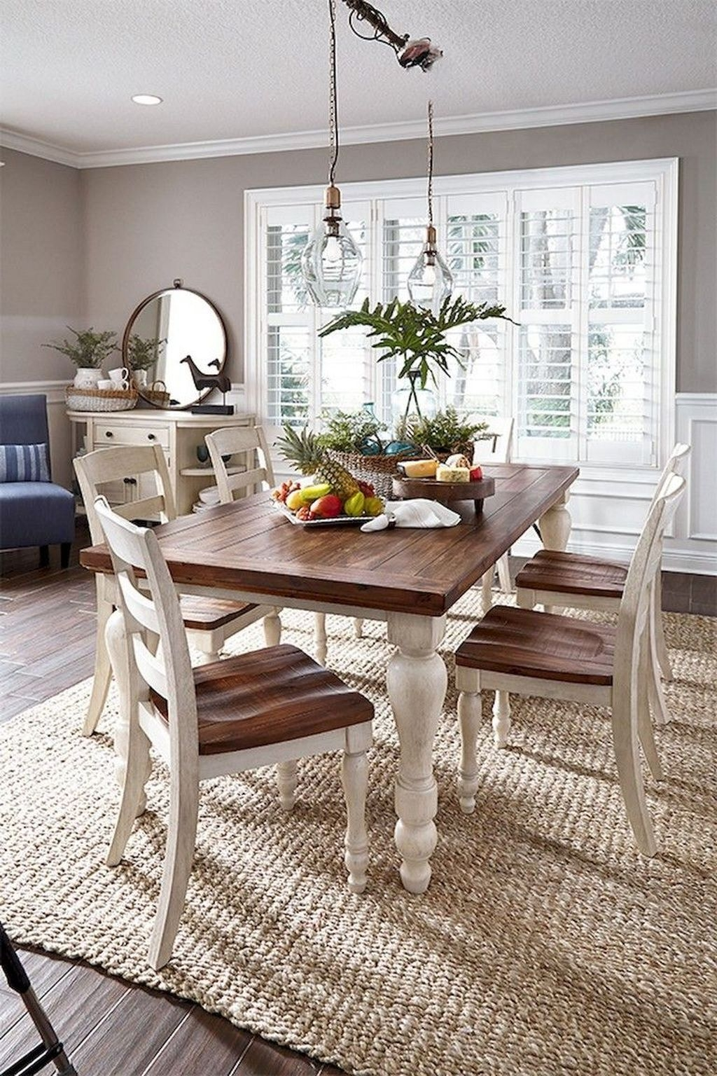 Popular Farmhouse Dining Room Design Ideas Trend 2019 01