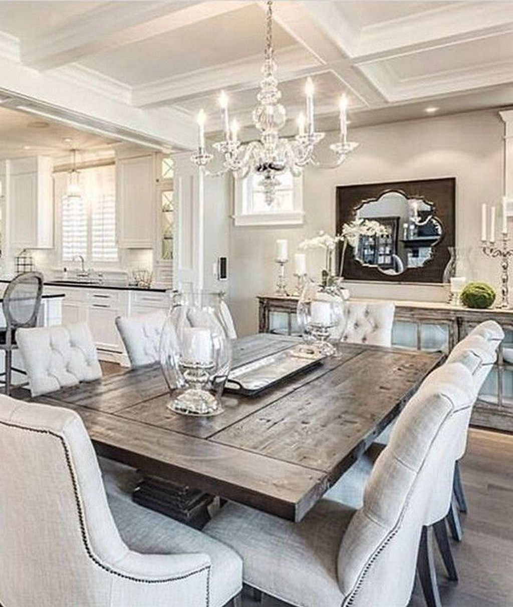 Popular Farmhouse Dining Room Design Ideas Trend 2019 12