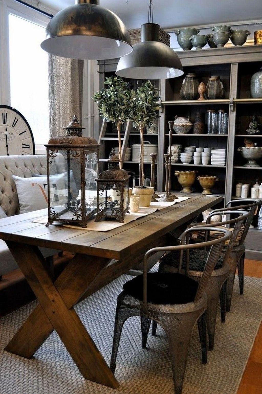 Popular Farmhouse Dining Room Design Ideas Trend 2019 17