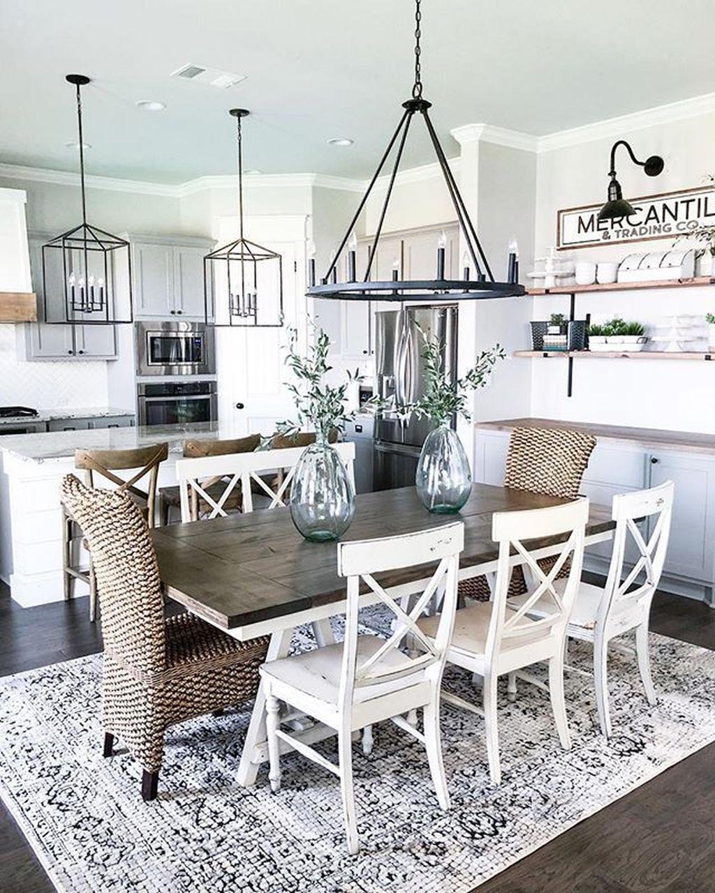 Popular Farmhouse Dining Room Design Ideas Trend 2019 21