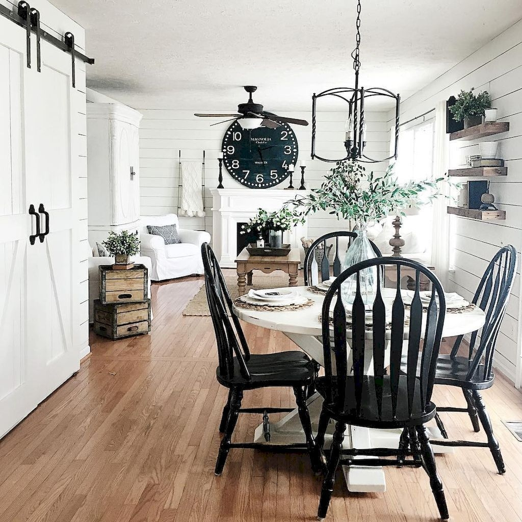 Popular Farmhouse Dining Room Design Ideas Trend 2019 22