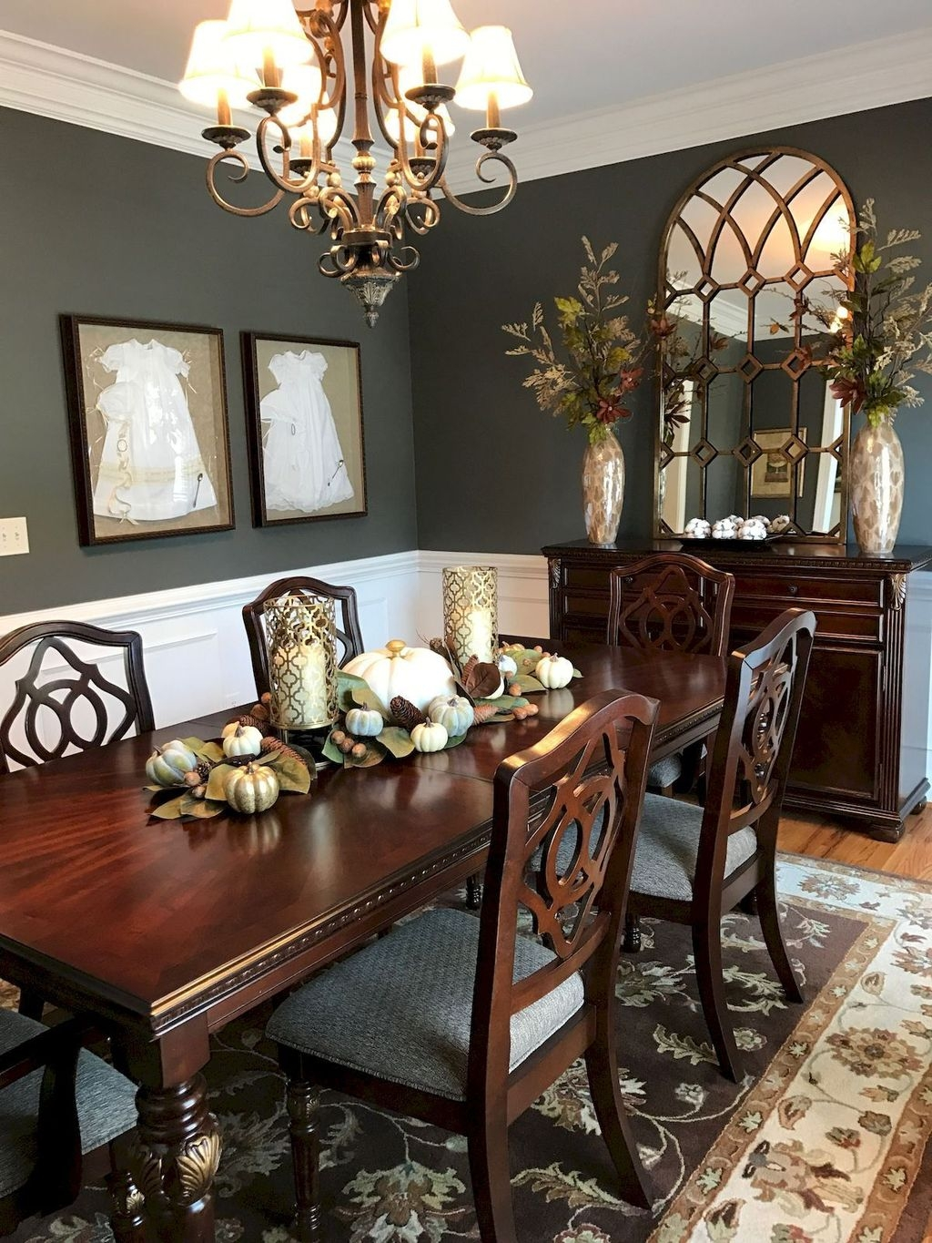 Popular Farmhouse Dining Room Design Ideas Trend 2019 28