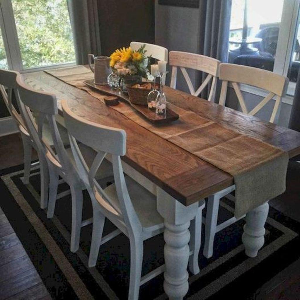 Popular Farmhouse Dining Room Design Ideas Trend 2019 32