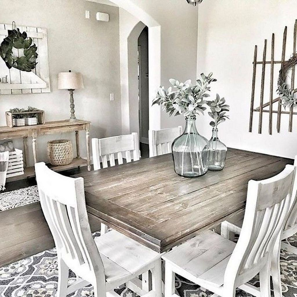 Popular Farmhouse Dining Room Design Ideas Trend 2019 38