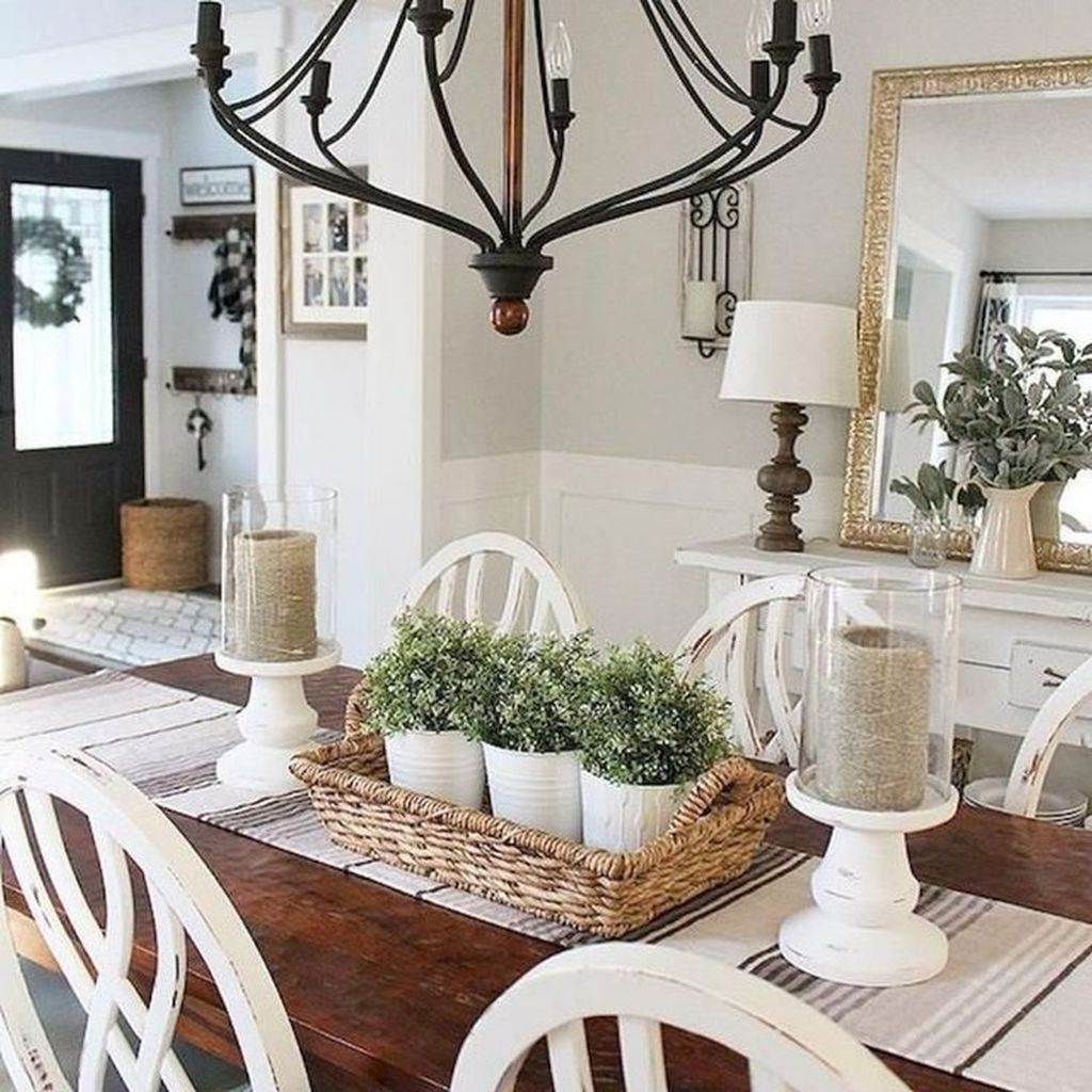 Popular Farmhouse Dining Room Design Ideas Trend 2019 41