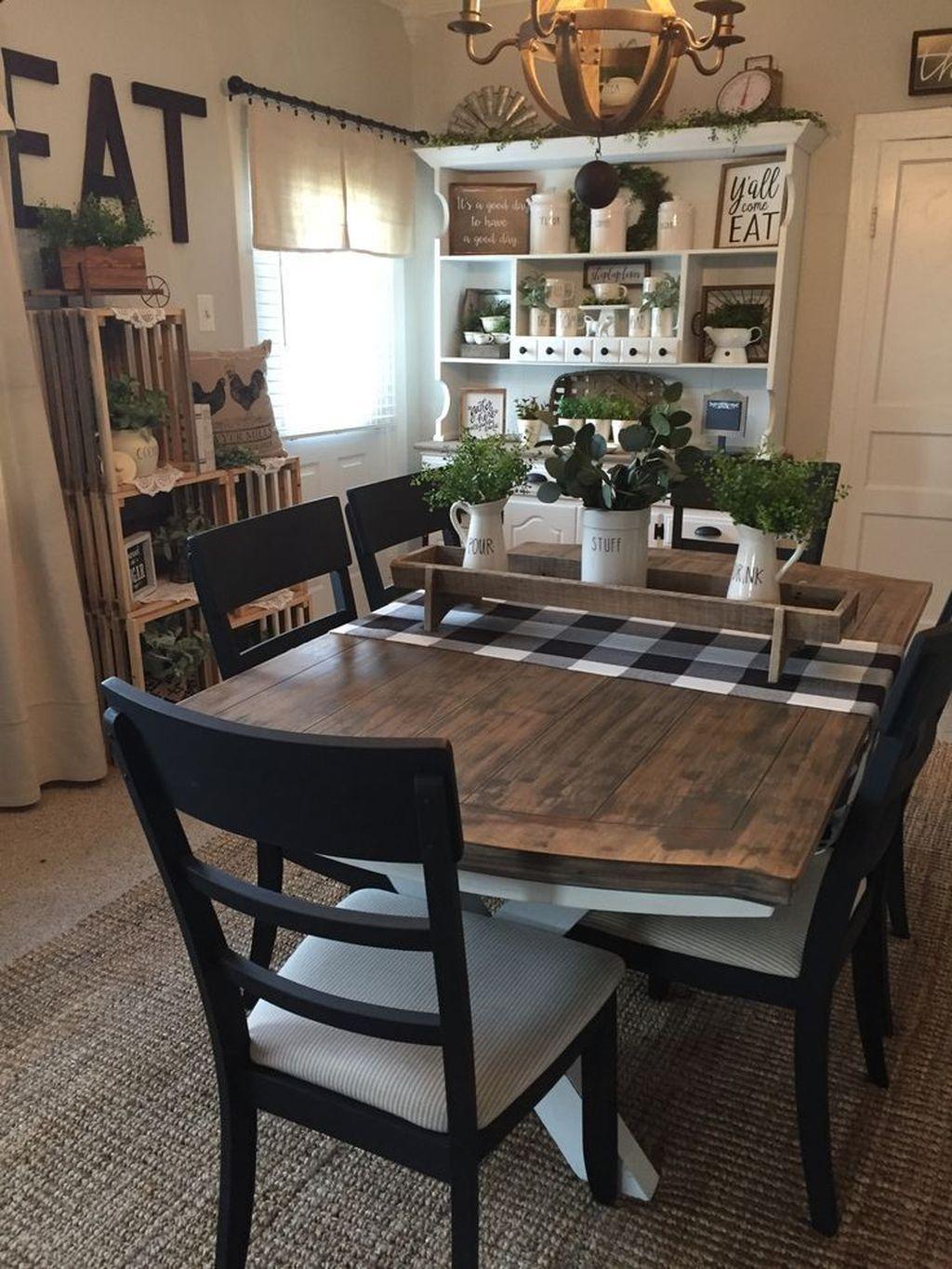 Popular Farmhouse Dining Room Design Ideas Trend 2019 43