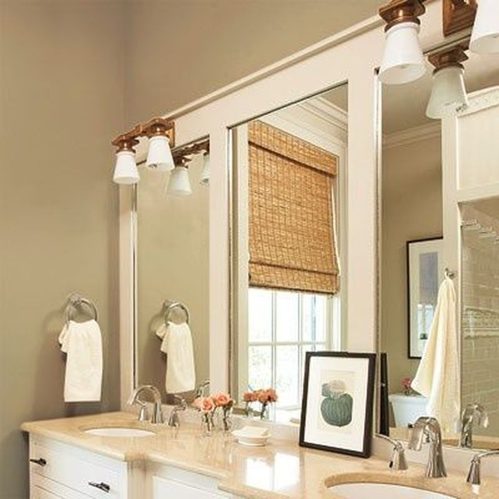 Stunning Bathroom Mirror Decor Ideas 22