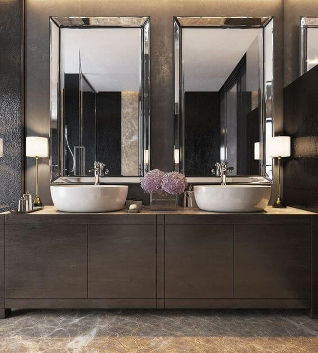 Stunning Bathroom Mirror Decor Ideas 41