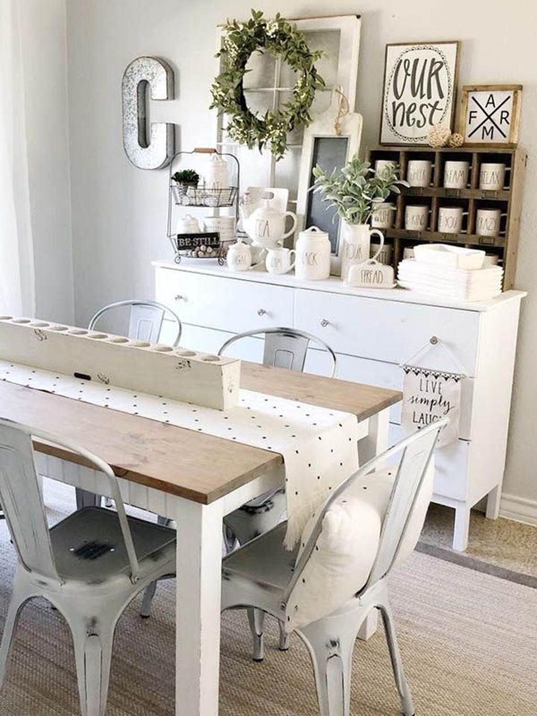 Stunning Farmhouse Dining Room Decoration Ideas 07