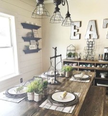 Stunning Farmhouse Dining Room Decoration Ideas 12