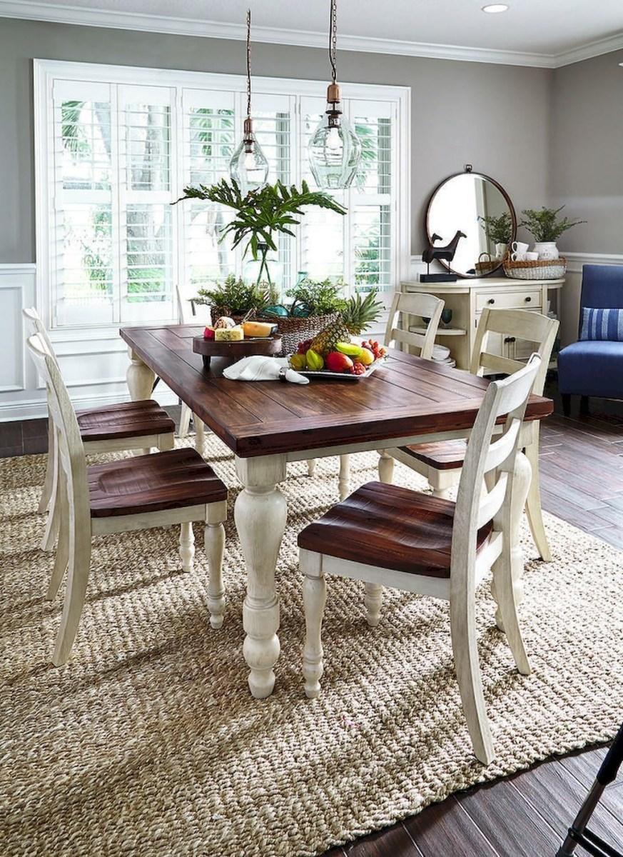 Stunning Farmhouse Dining Room Decoration Ideas 27