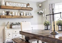 Stunning Farmhouse Dining Room Decoration Ideas 41