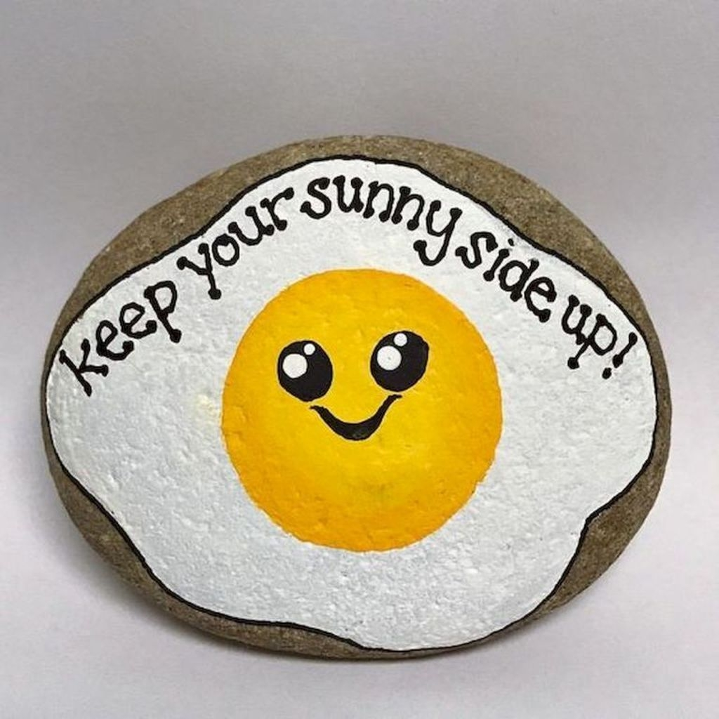 Sweet Rock Painting Design Ideas For Your Home Decor 21