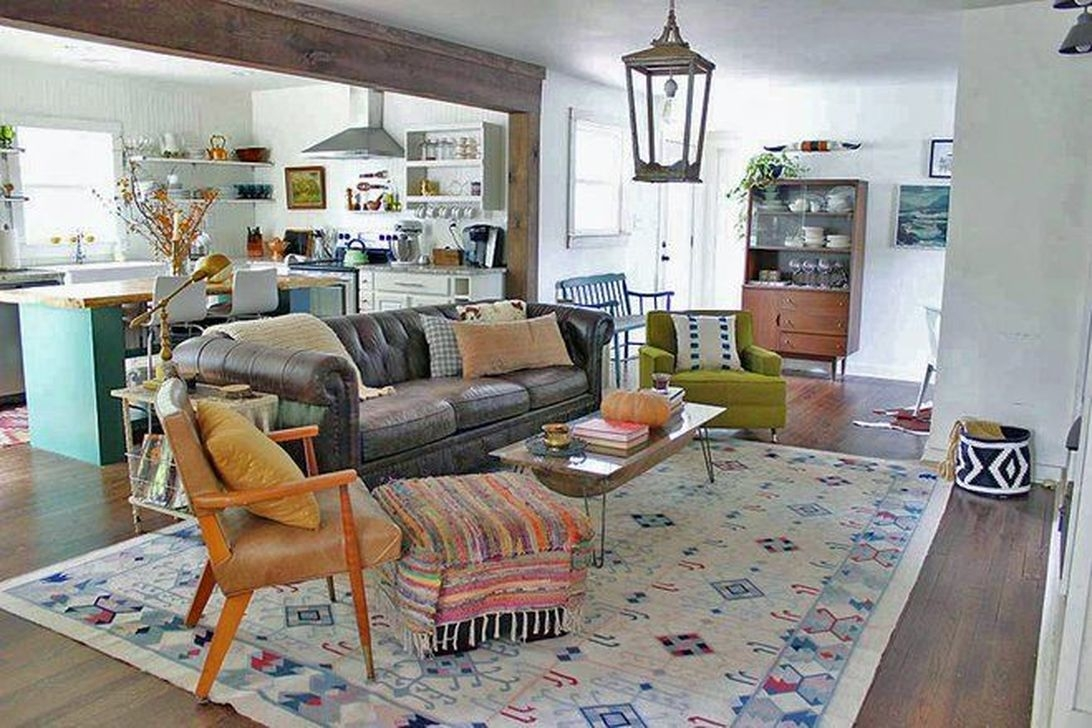 The Best Bohemian Farmhouse Decorating Ideas For Your Living Room 03