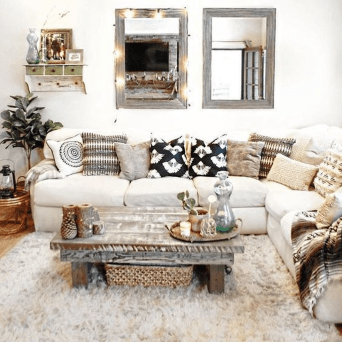 The Best Bohemian Farmhouse Decorating Ideas For Your Living Room 06