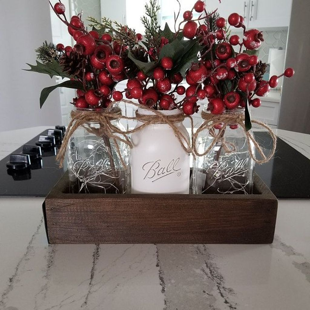 Amazing Christmas Decor For Kitchen Table 06