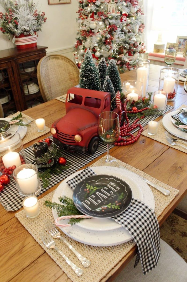 Amazing Christmas Decor For Kitchen Table 39