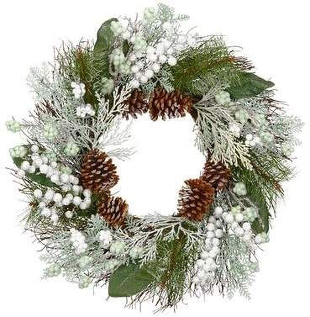 Beautiful Winter Wreaths Design Ideas 34