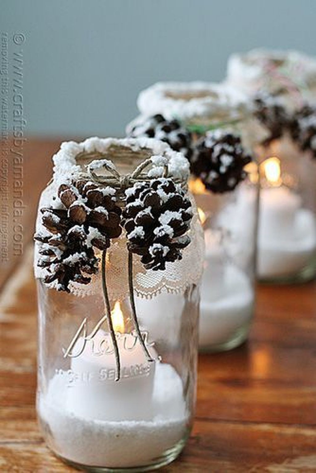 Fabulous Christmas Pine Cone Decorations 16