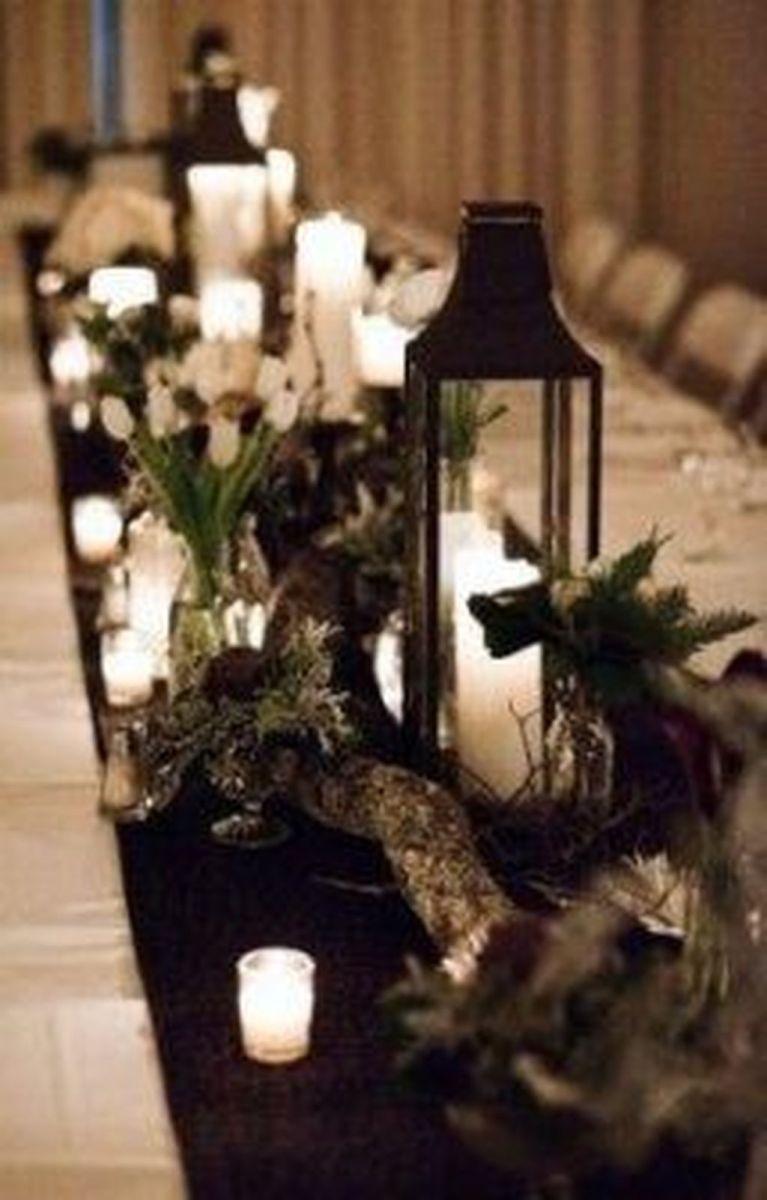 Fabulous Winter Lantern Centerpieces Ideas 22