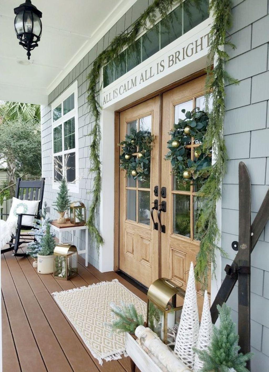 Gorgeous Winter Porch Decor Ideas 19