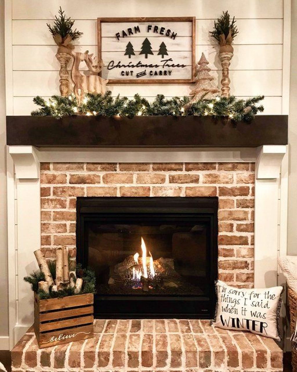 Nice Fireplace Decor Ideas Best For Wintertime 15