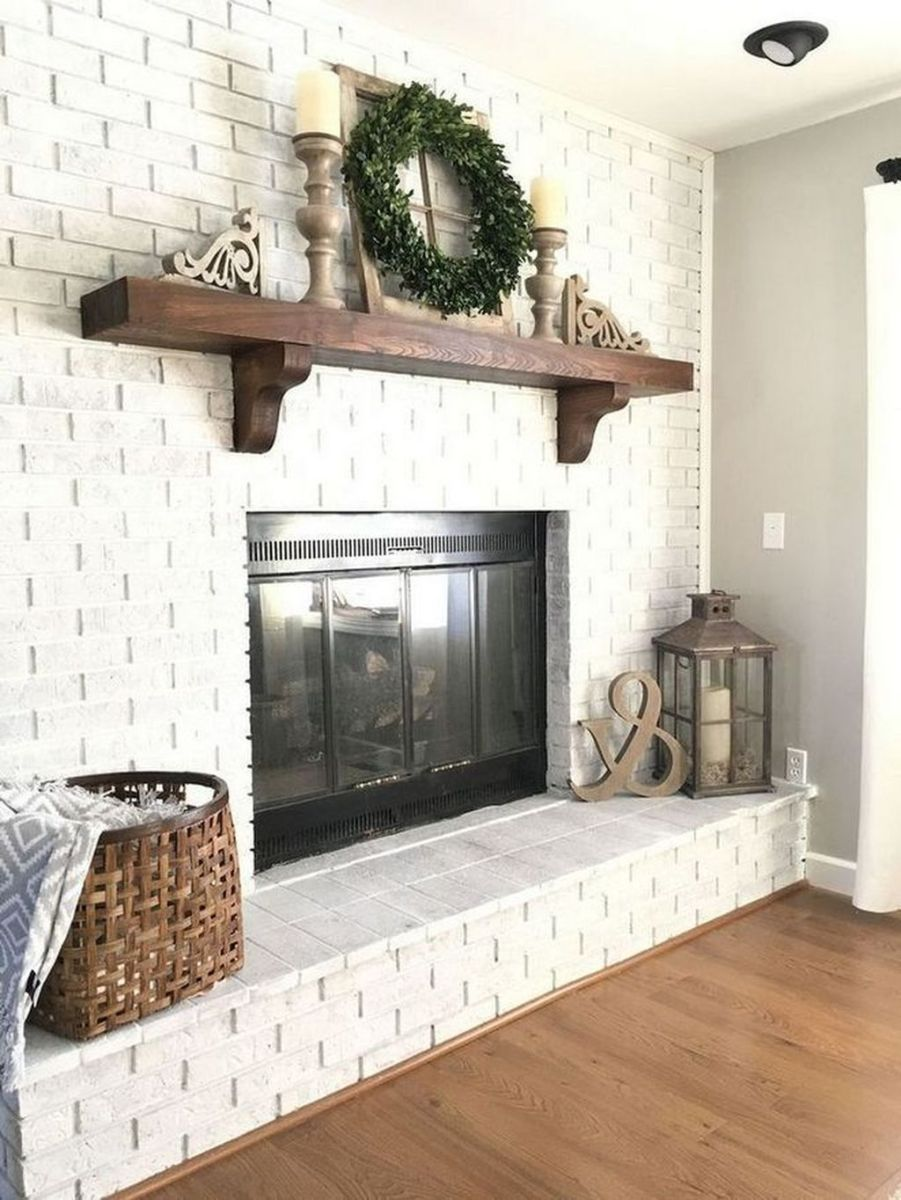Nice Fireplace Decor Ideas Best For Wintertime 20