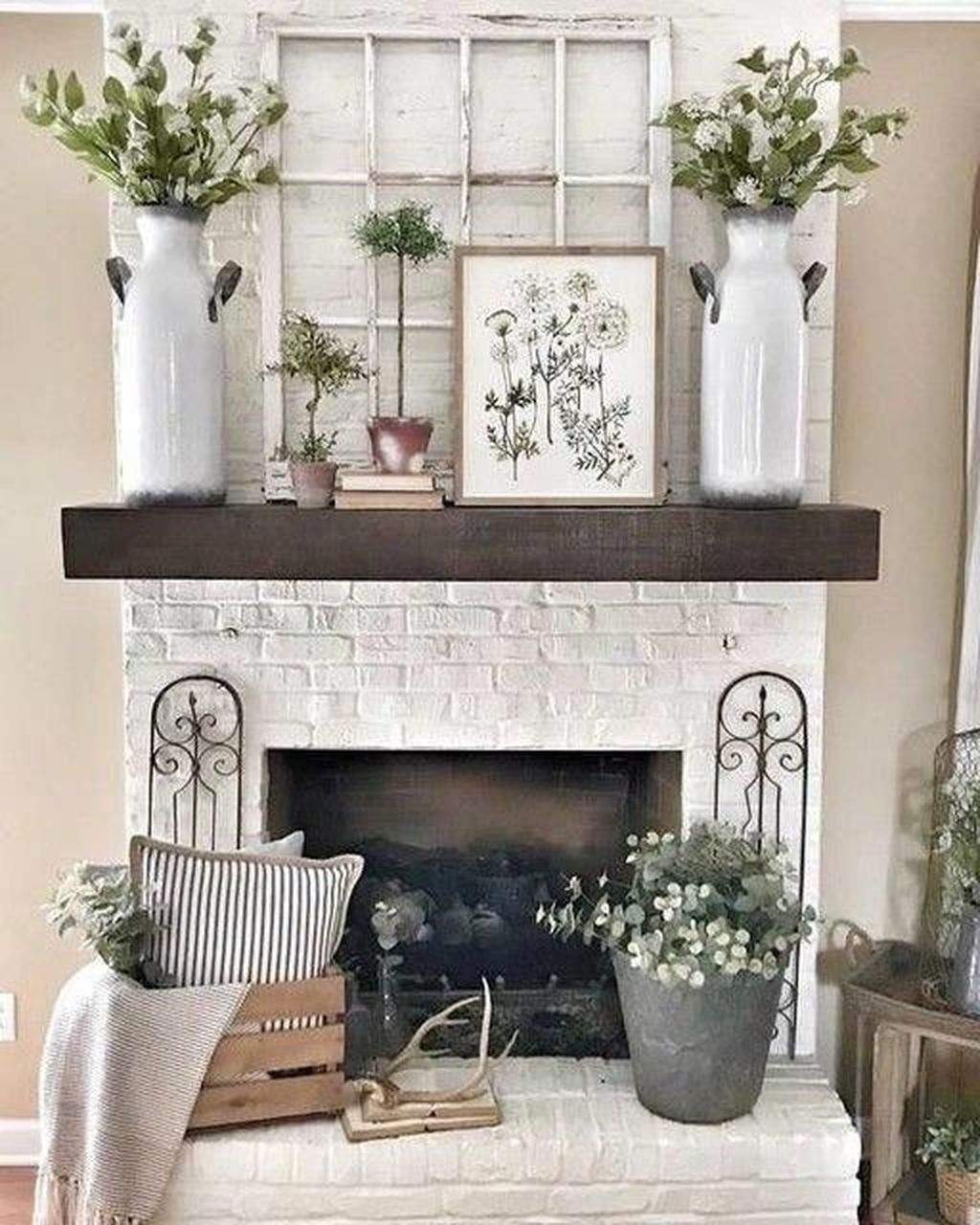 Nice Fireplace Decor Ideas Best For Wintertime 24