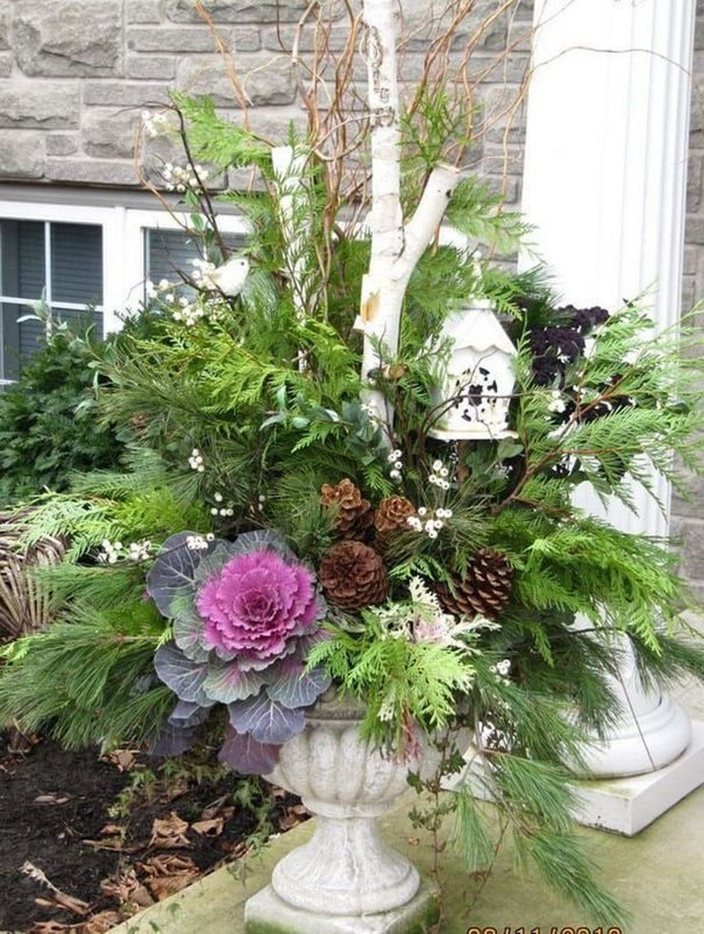 Perfect Outdoor Winter Planters Ideas 03