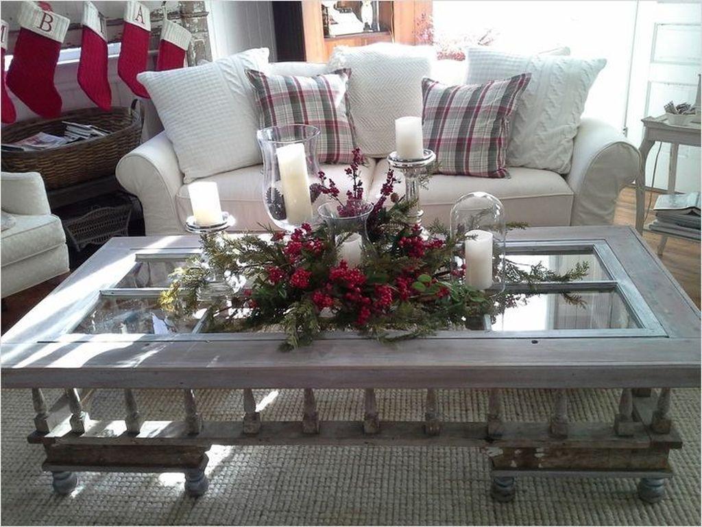 Popular Christmas Theme Coffee Table Decoration Ideas 10