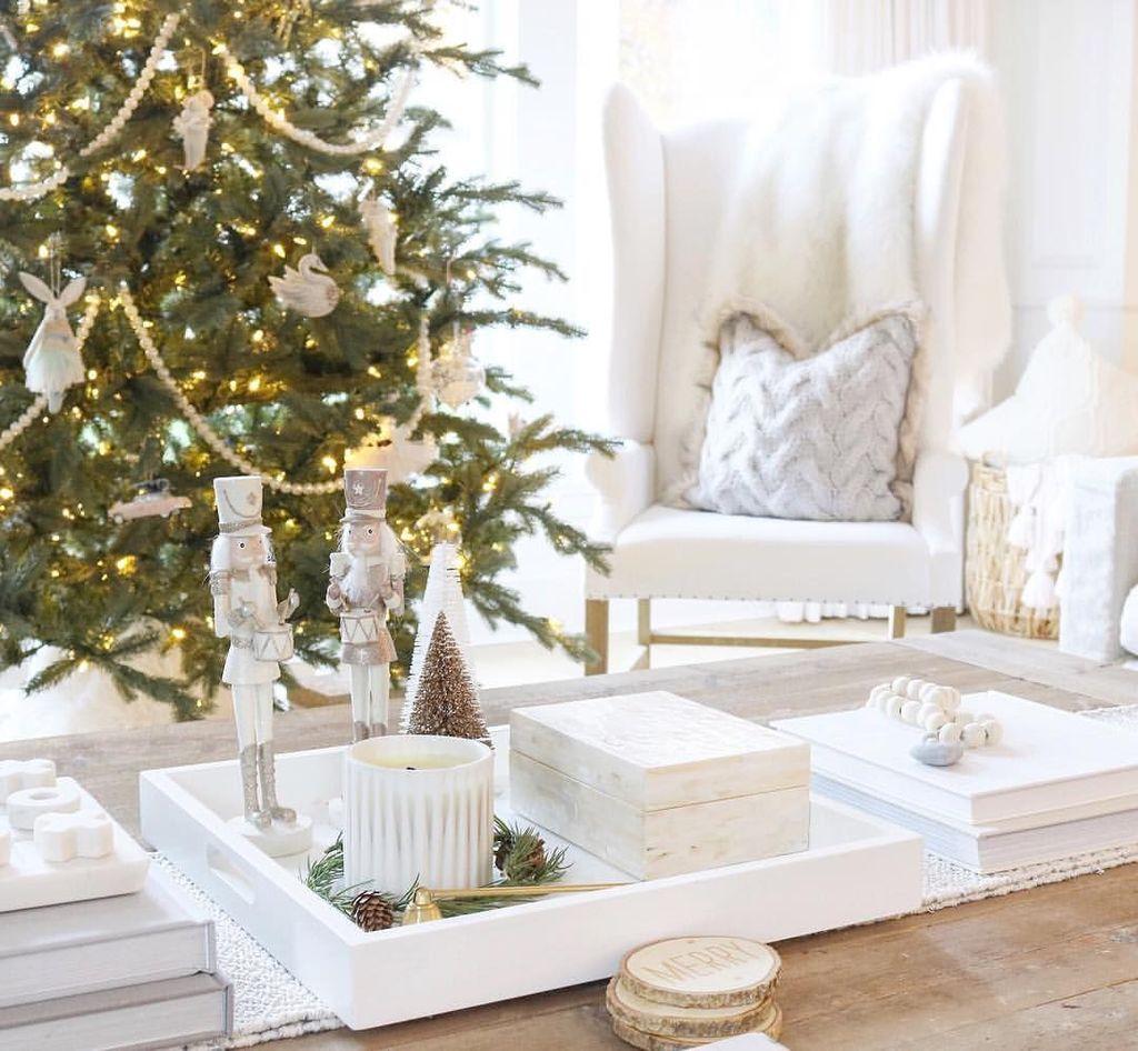 Popular Christmas Theme Coffee Table Decoration Ideas 29
