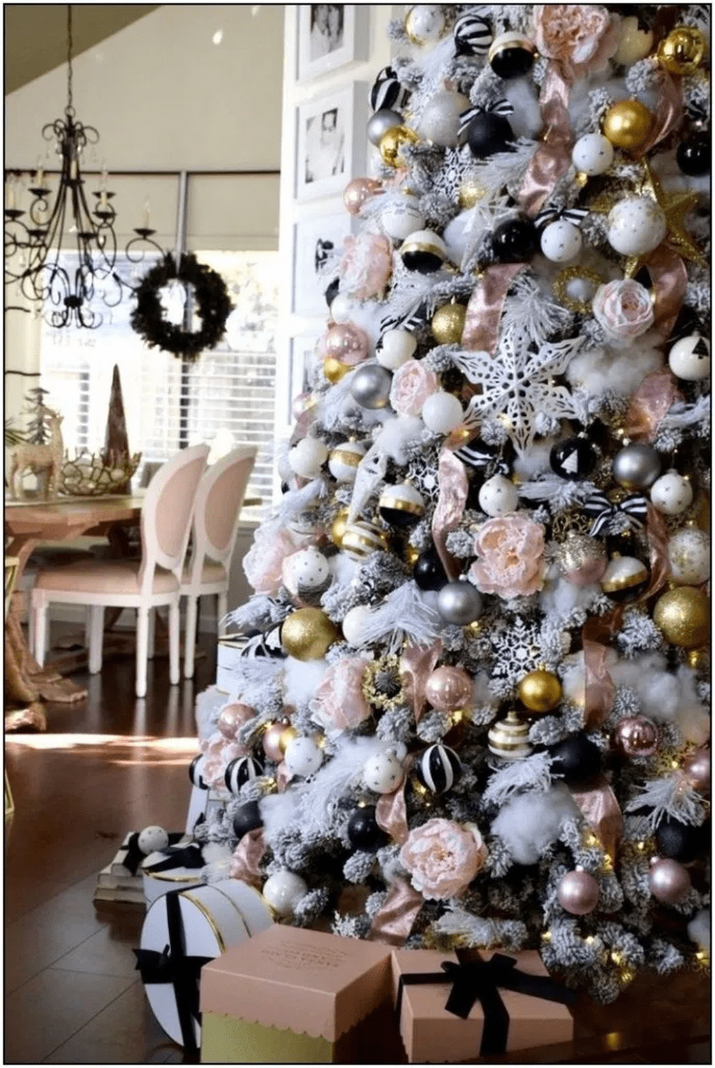 Stunning White Christmas Tree Ideas To Decorate Your Interior 11