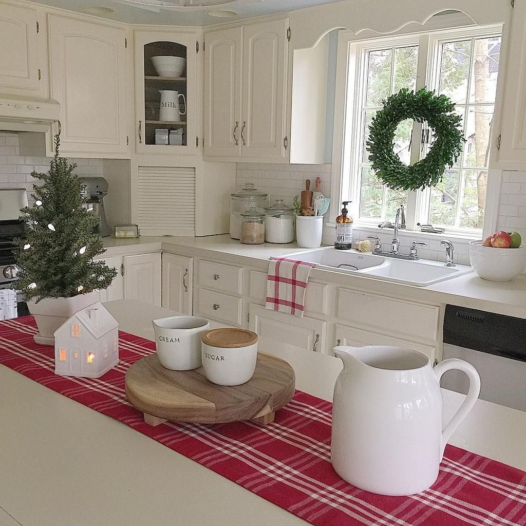 Stunning Winter Theme Kitchen Decorating Ideas 23
